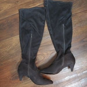 Lane bryant over the knee suede boots